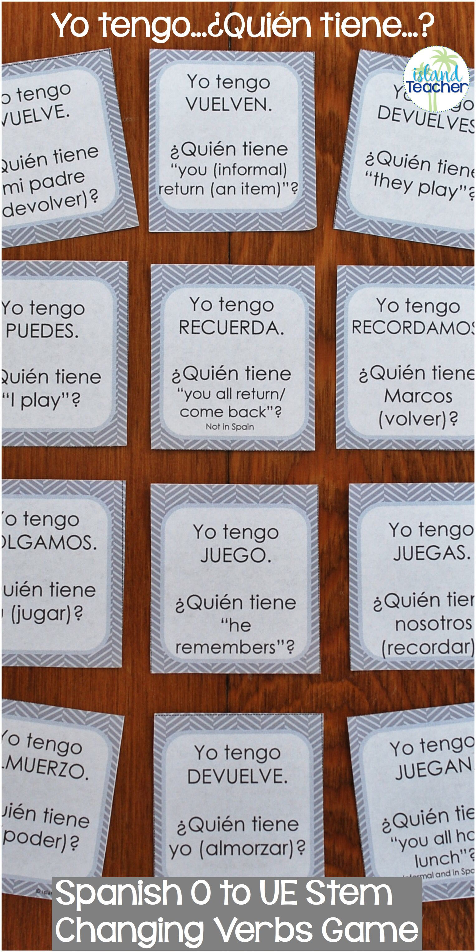Whole Class Interactive Game For Practicing Spanish O To Ue Stem Changing Verbs In The Pre Spanish Lessons For Kids Learning Spanish For Kids Learning Spanish [ 3054 x 1527 Pixel ]