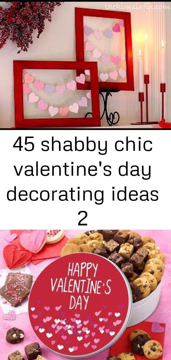 45 Shabby Chic Valentinstag Dekorationsideen 2 – Happy Valentines Day Tin Si ……