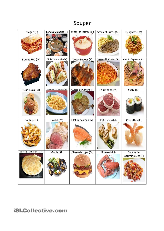 Dictionnaire visuel du souper vocabulaire structures pinterest dictionnaire dictionnaire - Dictionnaire cuisine francais ...