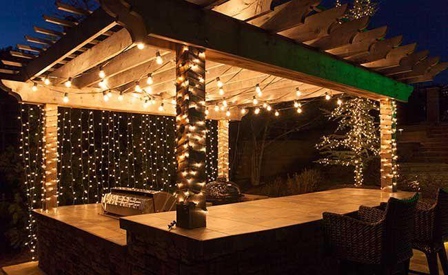 How to hang patio lights nel garden