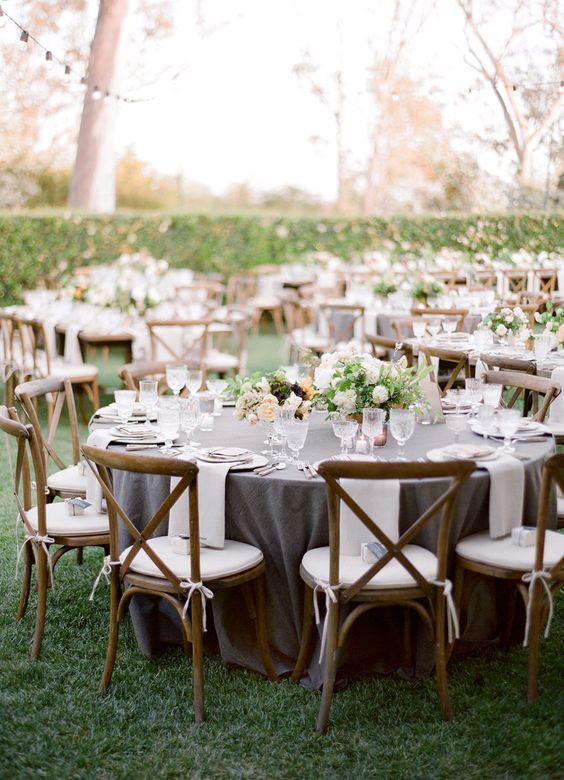 17 Best images about Silver and Grey Weddings on Pinterest ... |Wedding Grey Table Linens