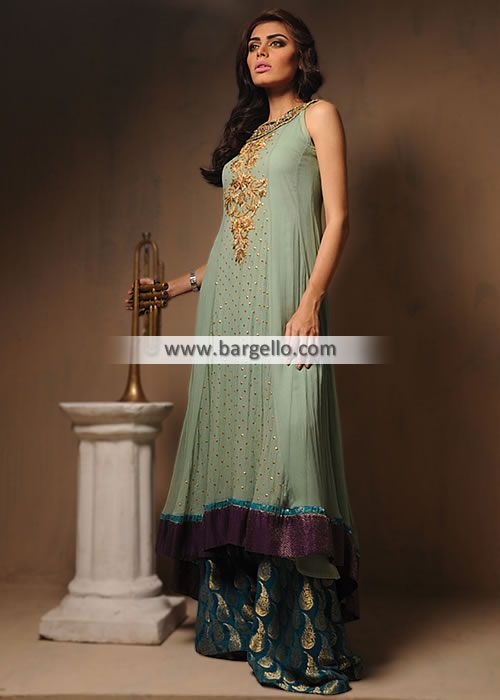 6ab9958812 D5378 Simplistic Anarkali Dress for Wedding and Special Occasions - UK USA  Canada Australia Saudi Arabia