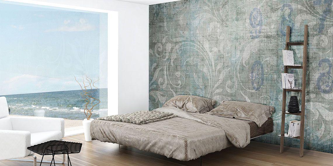 Concrete Romantic Schlafzimmer Schlafzimmer Tapete Haus Deko