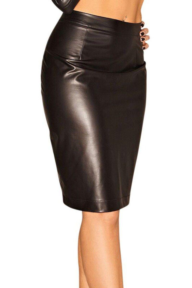 Schwarzer Rock F060 von Noir Handmade   Partykleid-Abendkleid ...