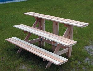 Bench For Potted Plants Herbs Gardening Outdoors