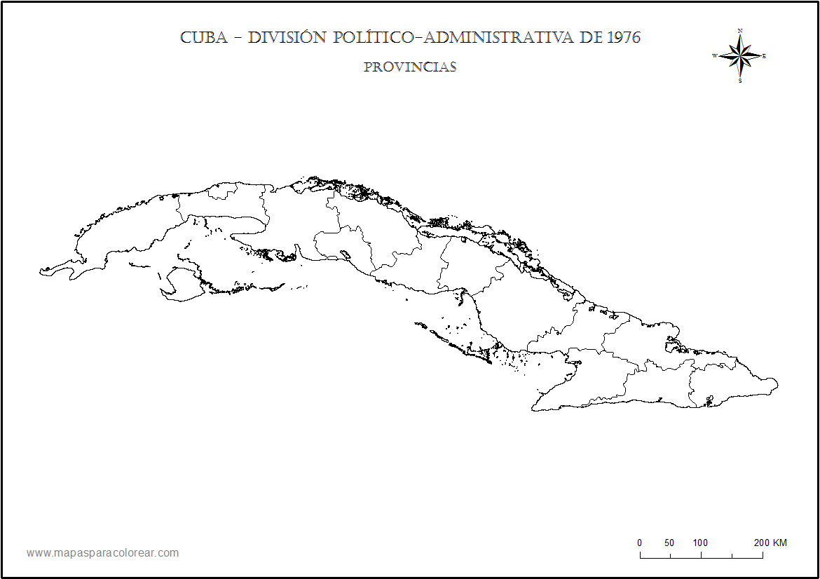 Coloring Cuba Map Pages
