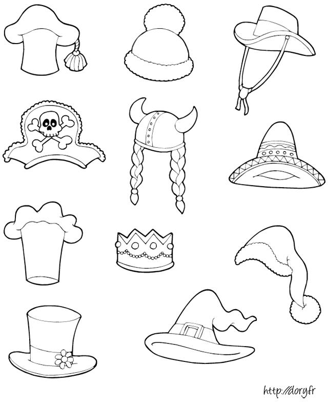 dessin à imprimer des chapeaux coiffes technische zeichnung