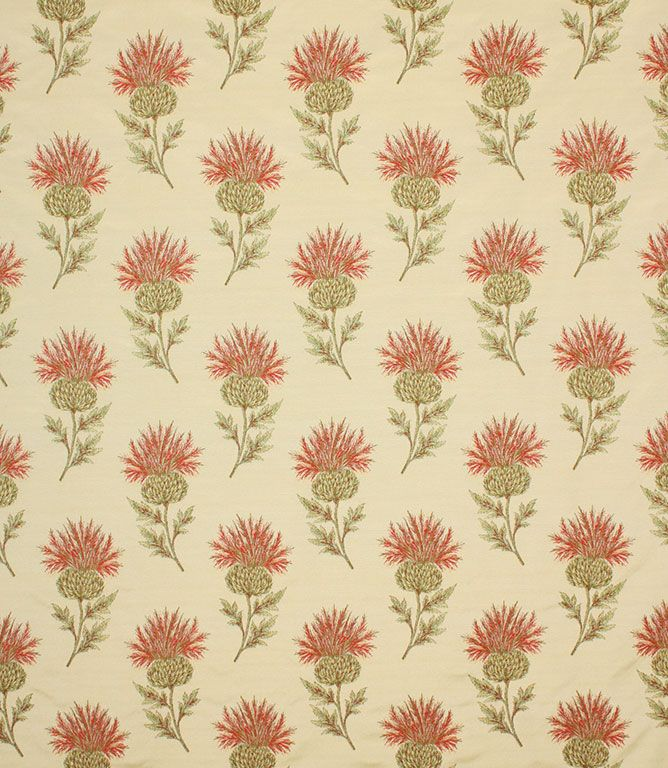 Cockerels Are Scattered All Over This Fabric Made From: Voyage Decoration Ecosse Fabric / Red