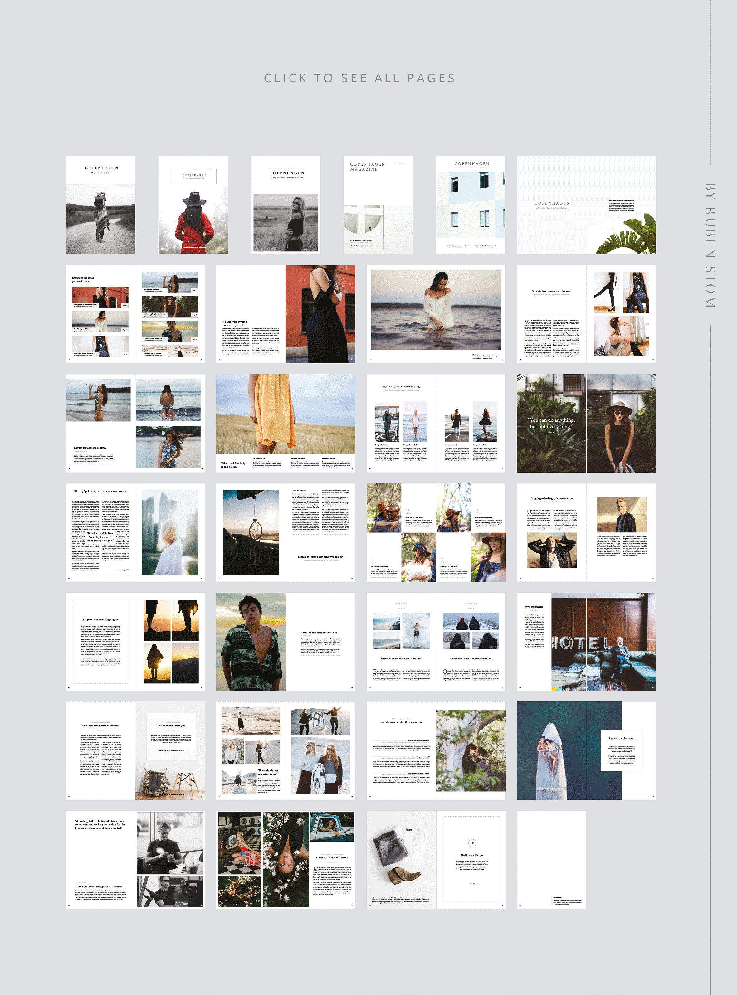 Copenhagen Magazine Page Layout Design Magazine Layout Magazine