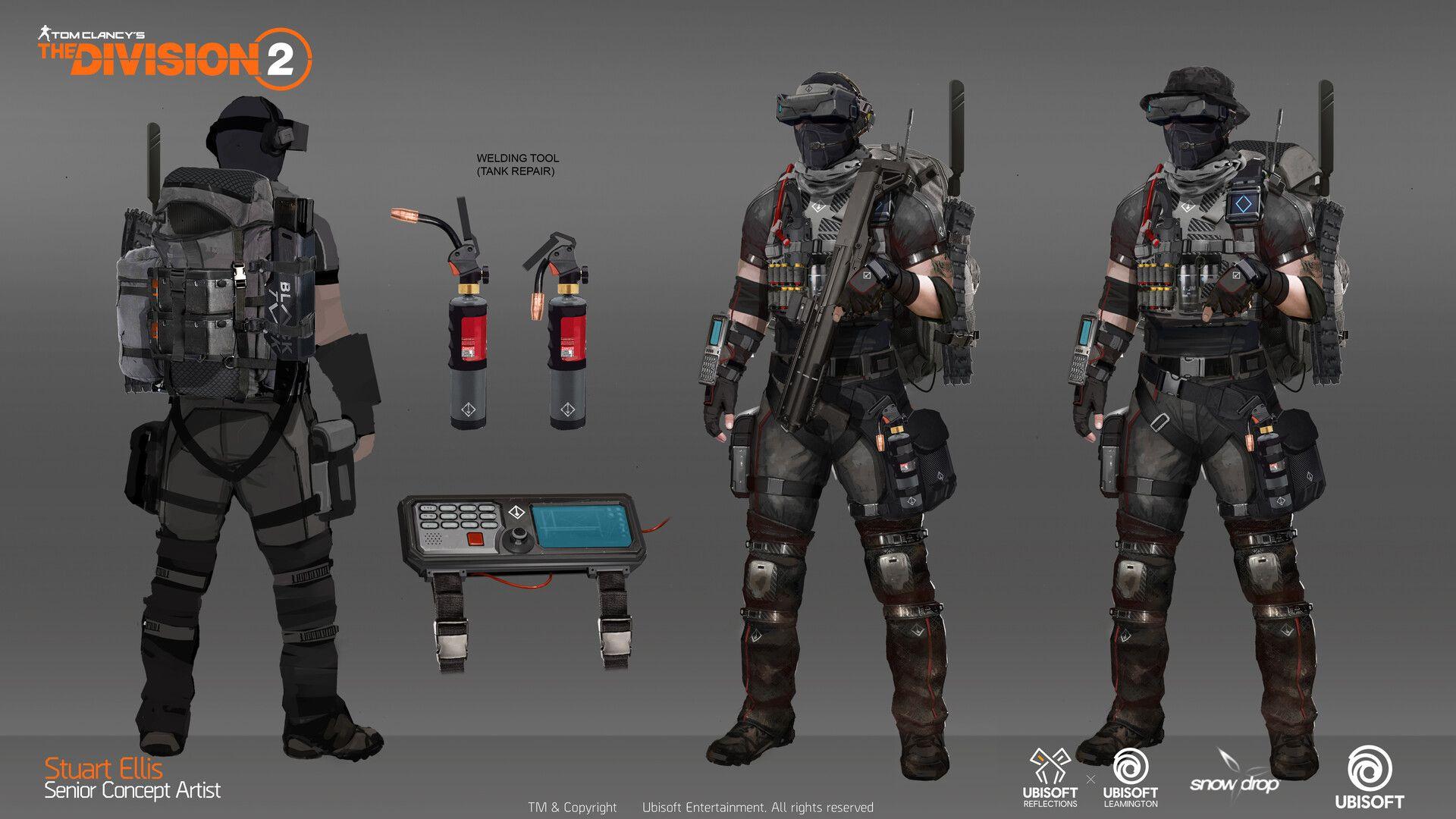Artstation Division 2 Black Tusk Controller Concept Stuart Ellis Division Combat Armor Tom Clancy The Division