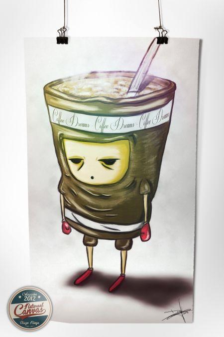 Poster Coffee Dreams: By DiegoNinya