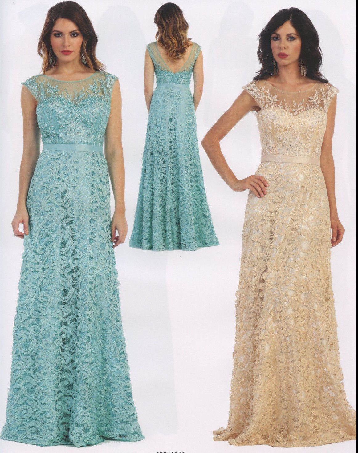 A-line lace formal occasion lovely mother of bride/groom dress ...
