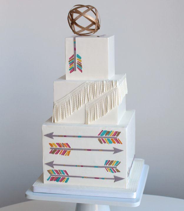arrow wedding cake ideas
