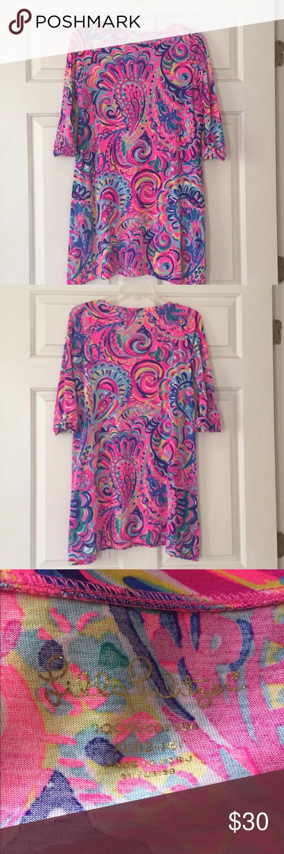 edb37259ac9e51 Lilly Pulitzer Edna Dress - Psychedelic Sunshine EUC Lilly Pulitzer Mini  Edna dress in girls XL