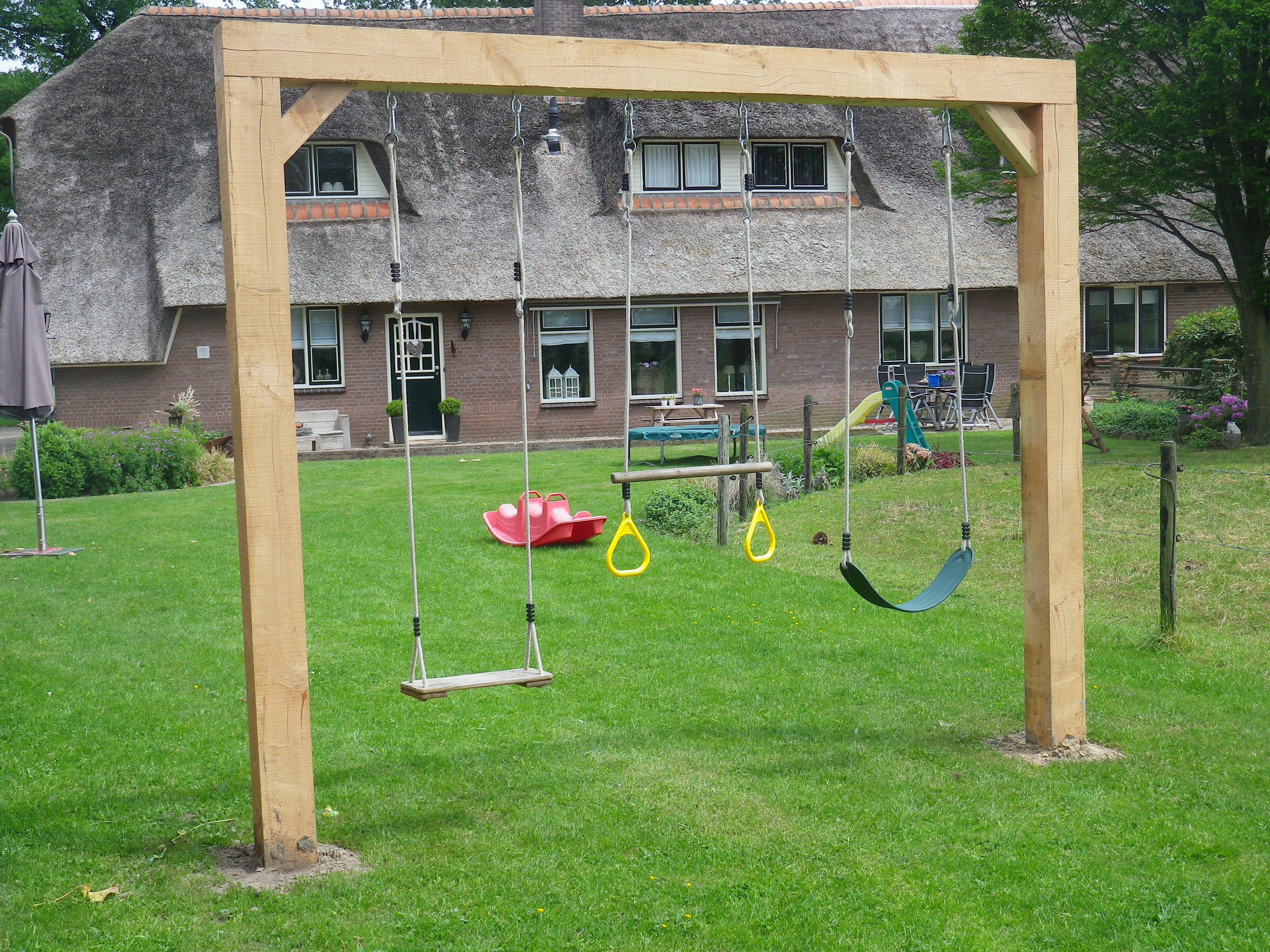 How To Build A Wooden Kids Swing Set - Hgtv,