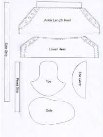 baby converse shoe template