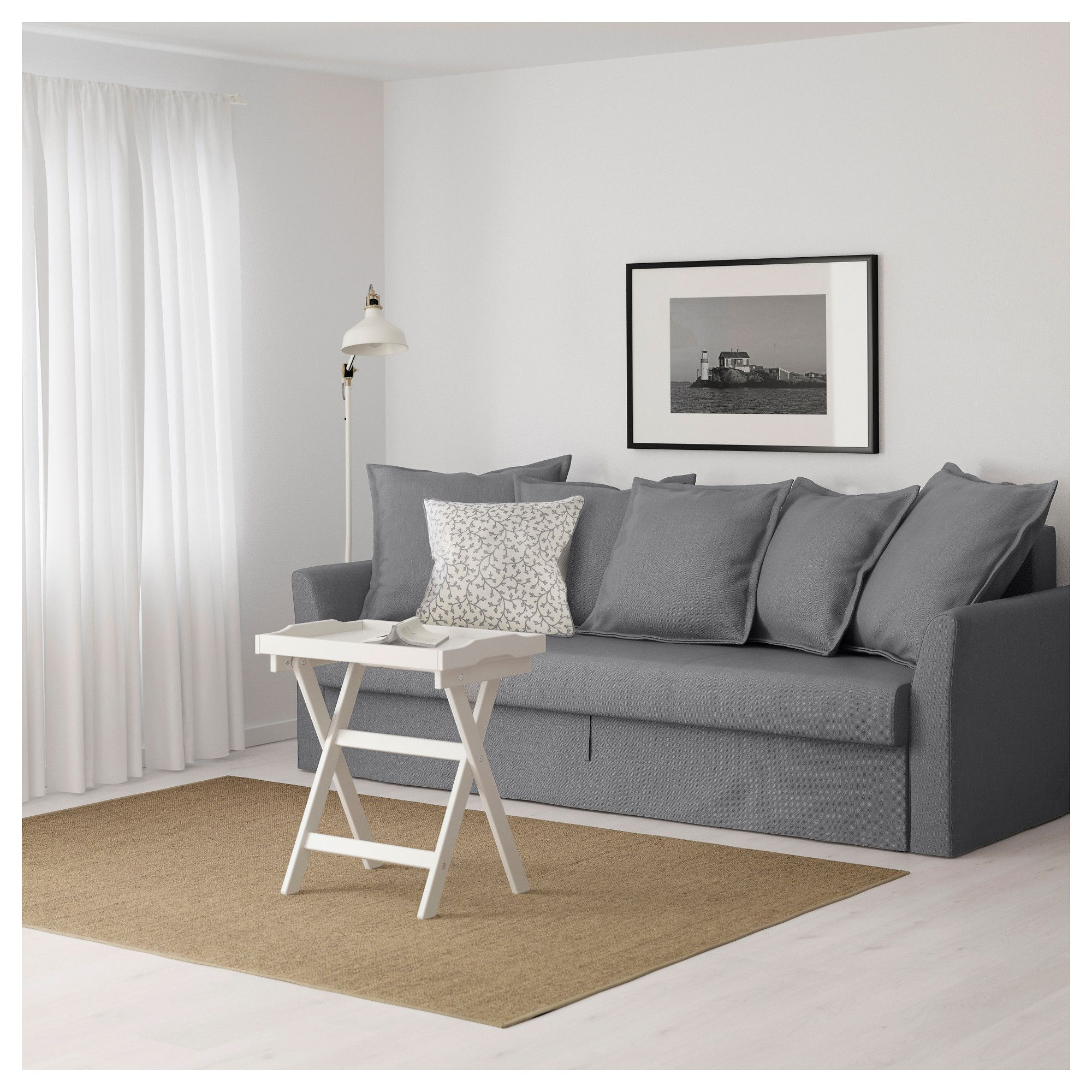 IKEA HOLMSUND Sofabed Nordvalla medium gray Sofa bed