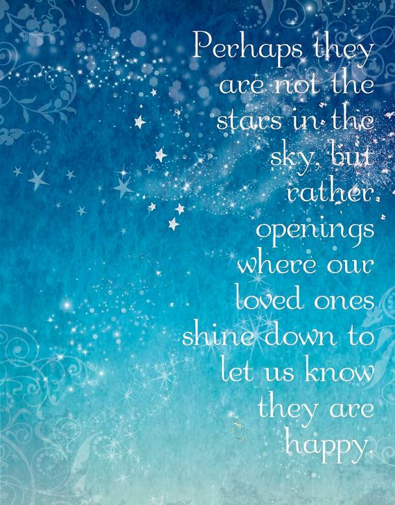 Perhaps They Are Not Stars Heaven Quote 5x7 Word Art Prints