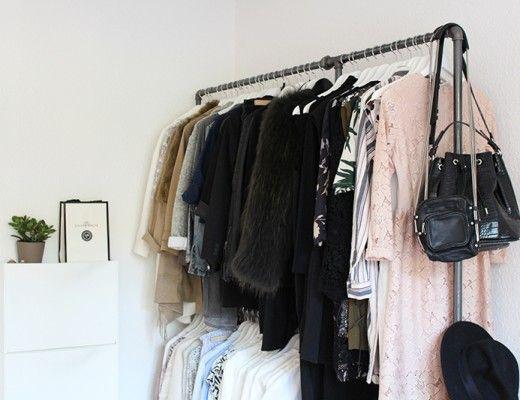 rackbuddy tøjstativ af vandrør byg dit eget tøjstativ DIY - diy garderobe