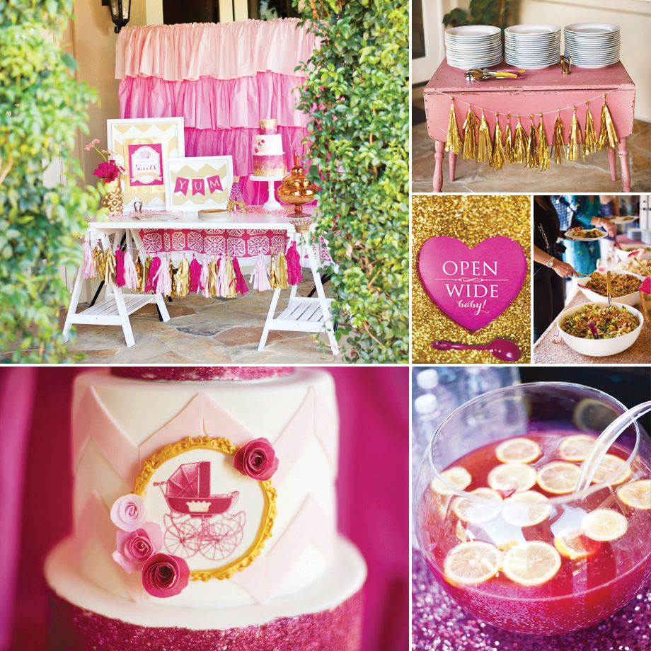 {Pink, Glitter & Gold} Royal Baby Shower: Part 2