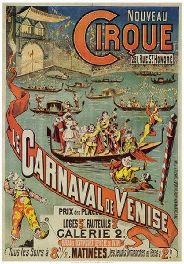 Vintage Nouveau French Circus Poster | Vintage circus ...