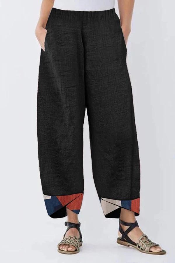 Geometrical Print Casual Pants
