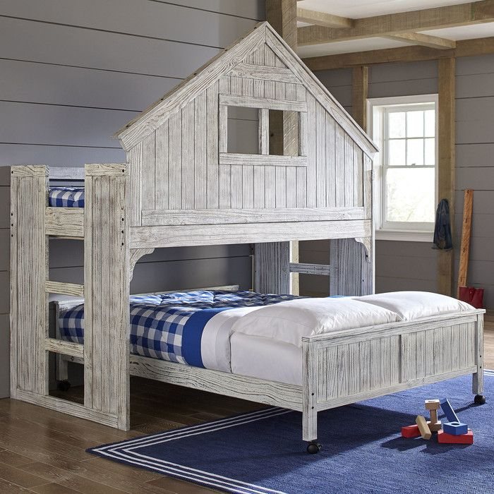 Best Birch Lane Kids Lake House Twin Over Full Bunk Bed 400 x 300