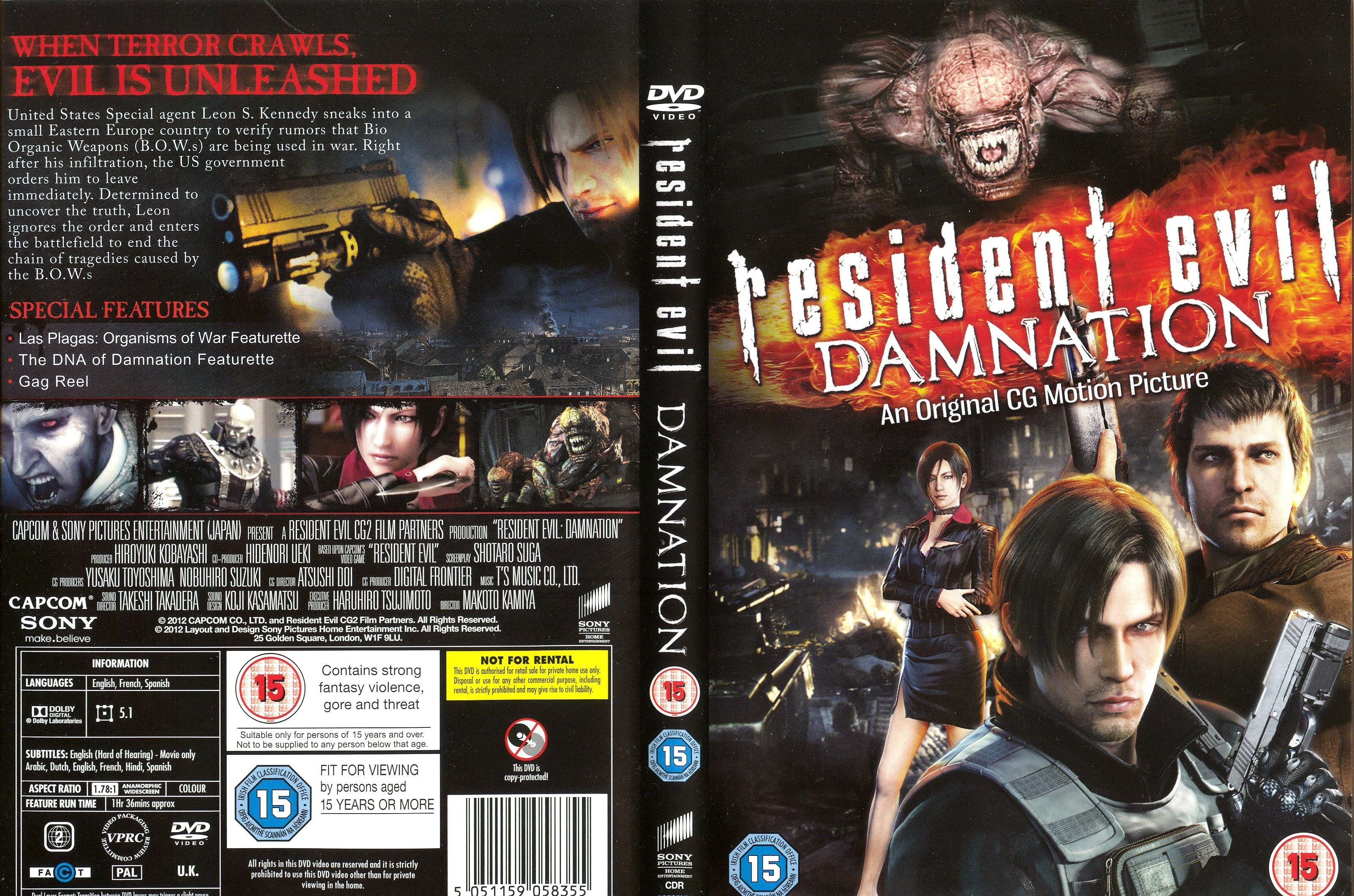 Resident Evil Damnation 2012 Cgi Animated Feature Films