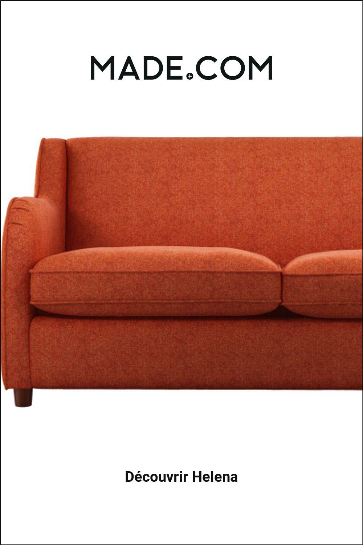 Made Com Canapes Lits 2 Places Orange Orange Decor