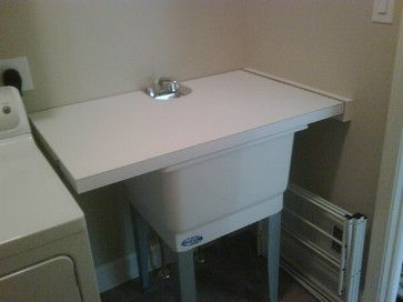 turn utility sink into folding traditional laundry room other metro - Laundry Folding Table