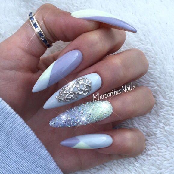 Pin de Jenny en nails. | Pinterest | Diseños de uñas, Brillo de ...