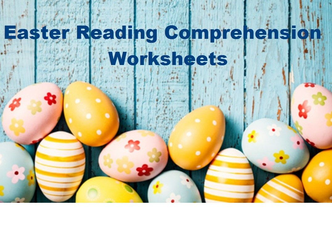 Easter Reading Comprehension Worksheets X 16 Save 80