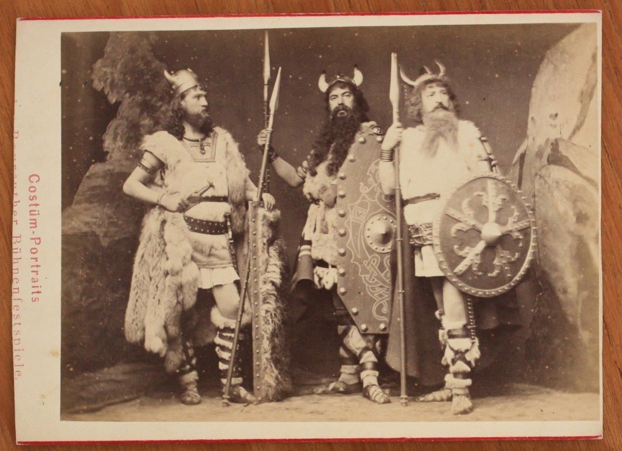 Opera Cabinet Photo Male Cast Members Ring Cycle Bayreuth Festival Wagner 1876