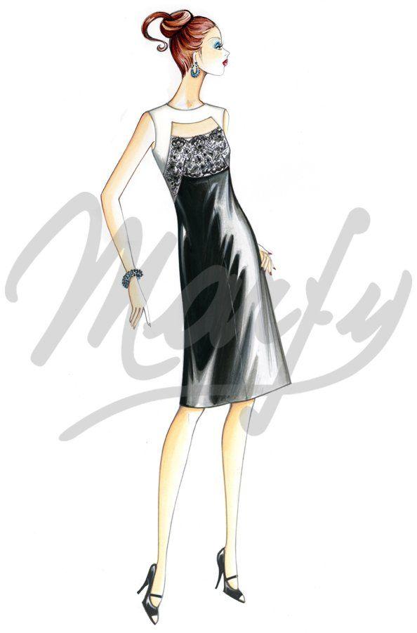 Sewing pattern Dress Sewing Pattern 001 PDF | frases | Pinterest ...