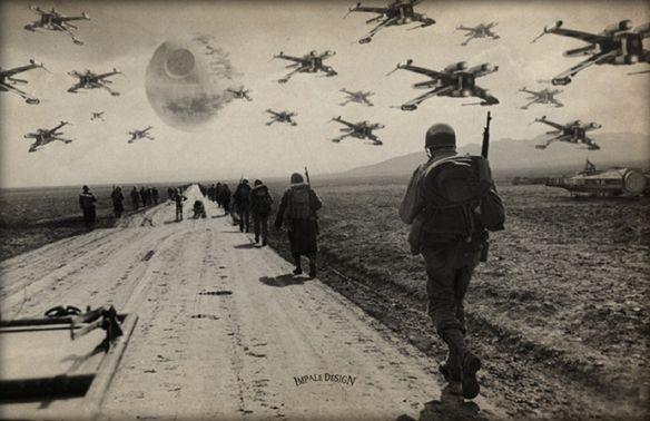 Star Wars WWII Retaliate Art Print $10