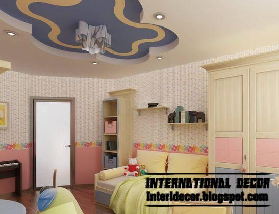 Best Creative Kids Room Ceilings Design Ideas Cool False Ceiling Of Plaster Board False Ceiling Bedroom Ceiling Design Ceiling Design Living Room