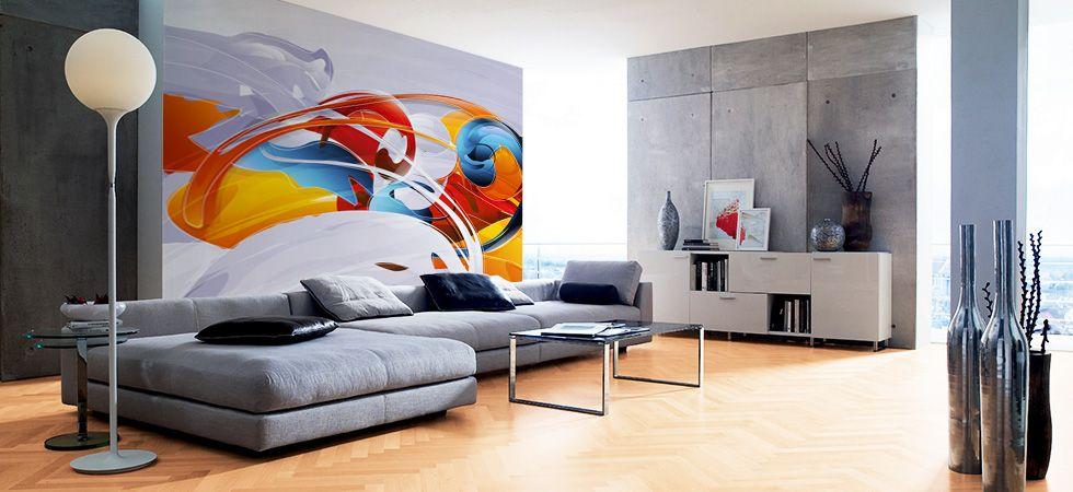 Modern Wall Murals Modern Wall Coverings Loft Decor Home Decor Contemporary Wall