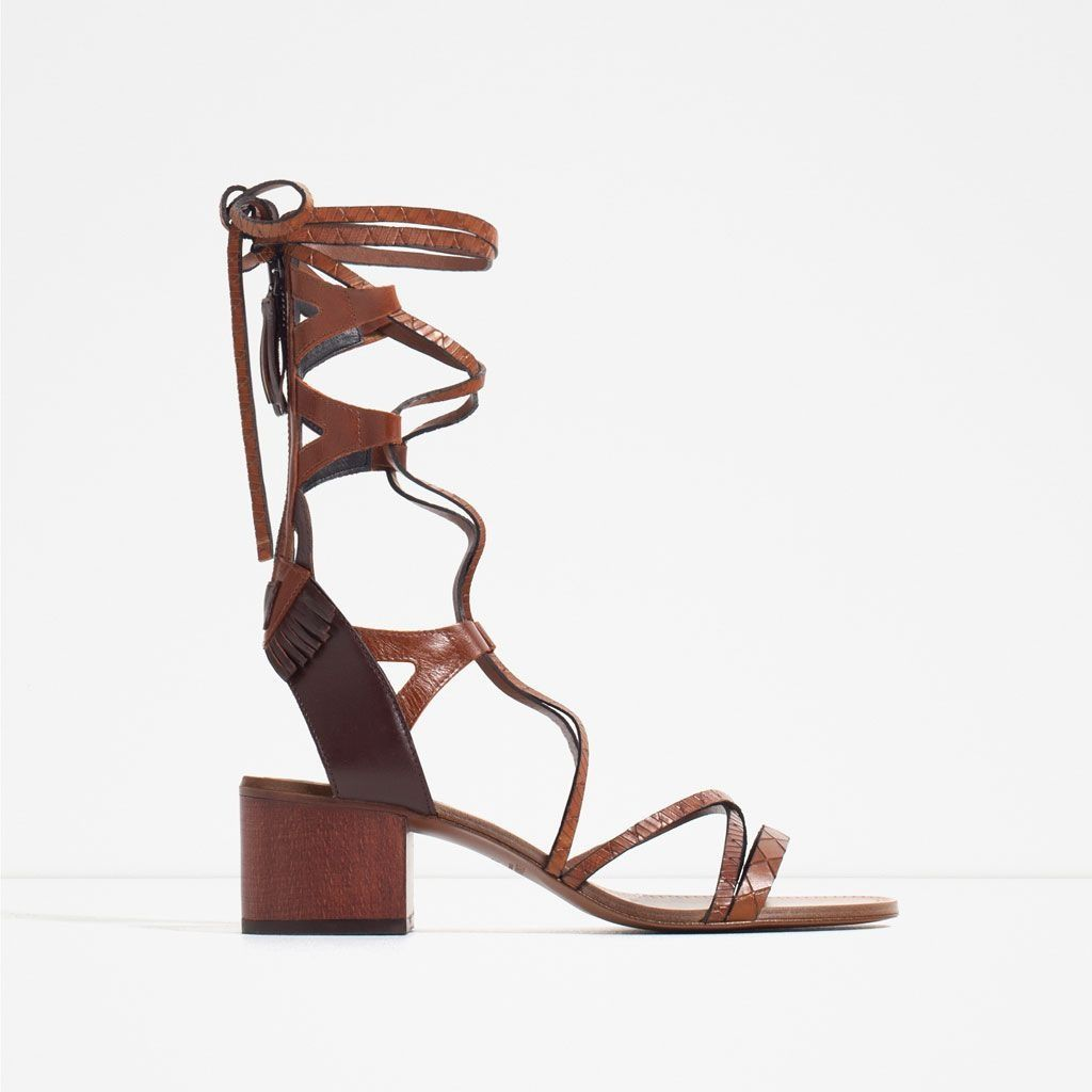 8nxwpkn0o 5 Sandals Lace Up Size7 Colorbrowntan Shoestan Zara KclF3TJ1