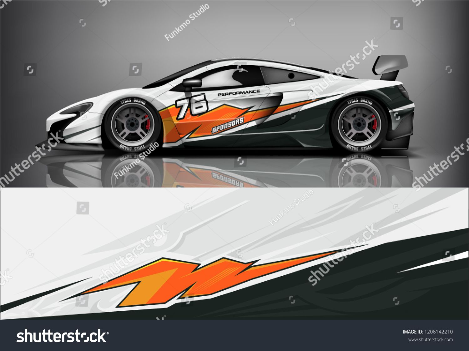 Sport Car Racing Wrap Livery Design Stock Image Download Now In 2020 Sports Car Racing Race Cars Sports Cars
