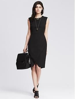 Sloan-Fit Black Cross-Front Sheath   Banana Republic. This picture does not give it justice!