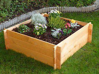 Erhohtes Pflanzbeet 33 5 Cm X 100 Cm X 100 Cm Wooden Garden Planters Raised Flower Beds Flower Beds
