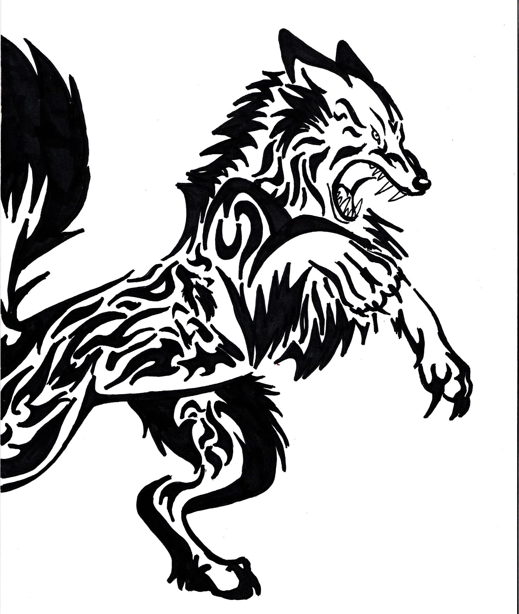 Wolf Tribal Tattoo Design Tattoes Idea 2015 2016 Tribal Wolf Tattoo Tribal Animal Tattoos Tribal Wolf