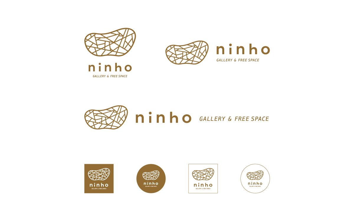 Ninho Gallery Free Space 家のロゴ 提案書 ロゴデザイン