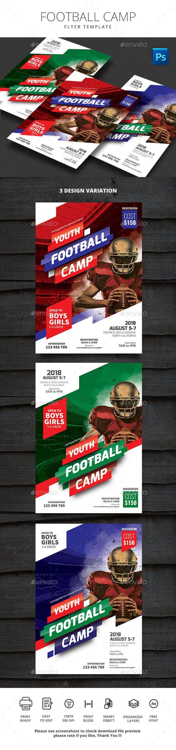 Football Camp Flyer Football Camp Flyer Facebook Pinterest - Football camp flyer template