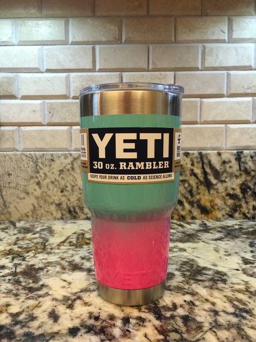 Cute Powder Coated Yeti Cup! | stuff | Yeti cup, Yeti cooler