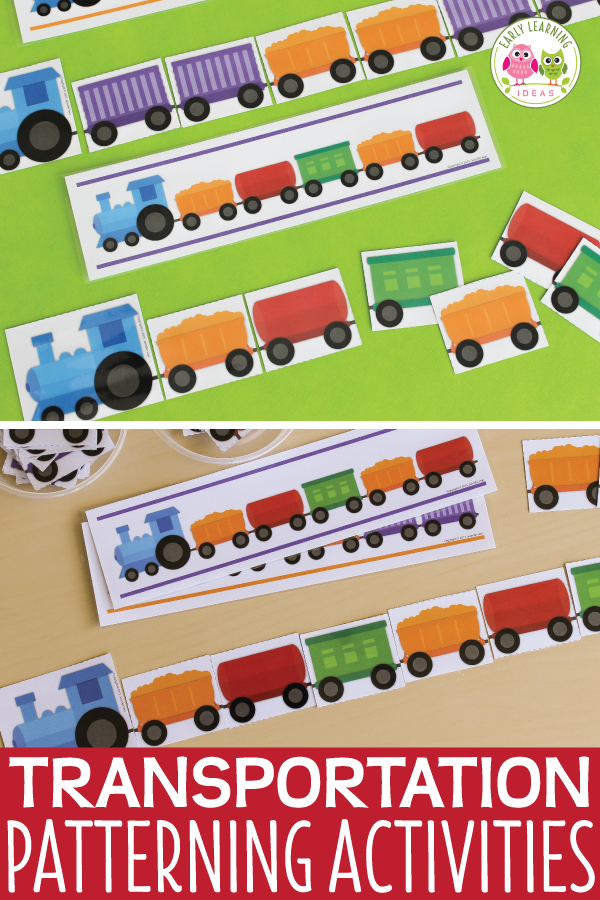 Transportation Activities | Train Patterning Activities ...