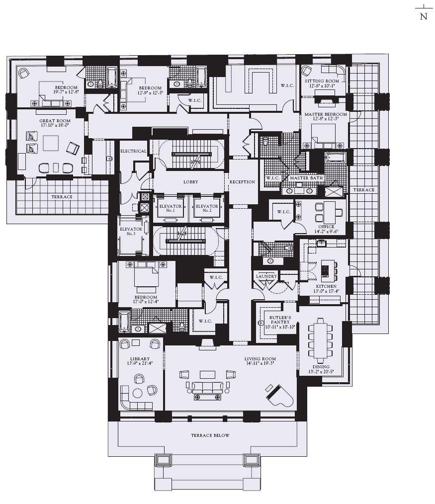 The Ritz Carlton Residences Chicago Magnificent Mile Apartment Floor Plans Luxury Floor Plans Condominium Plan