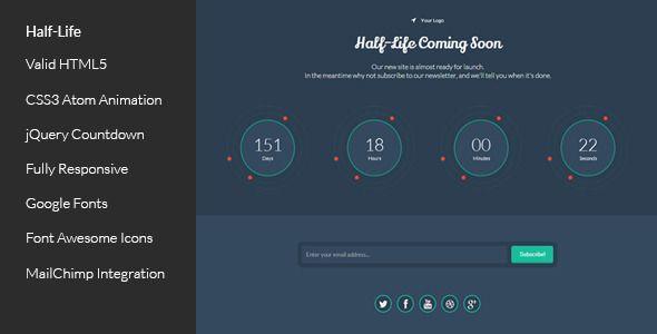 Half-Life - Responsive Coming Soon Template Website-Templates