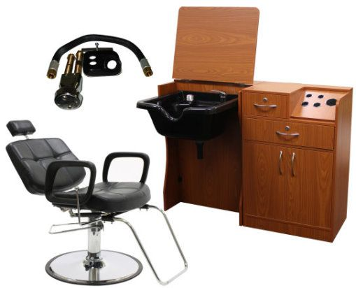 styling wet station, bowl w/vacuum breaker, all purpose chair