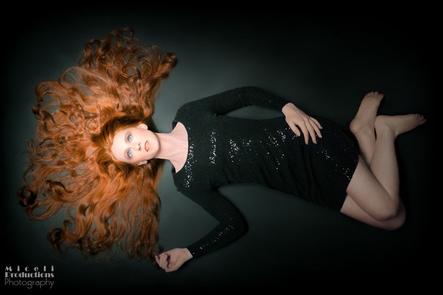 Black and Red, Miceli Productions, via 500px. photo.MiceliProductions.com #portrait #photography #redhead #model